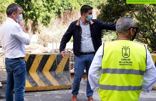 Las obras de mejora de acceso a Los Tilos entran en la recta final