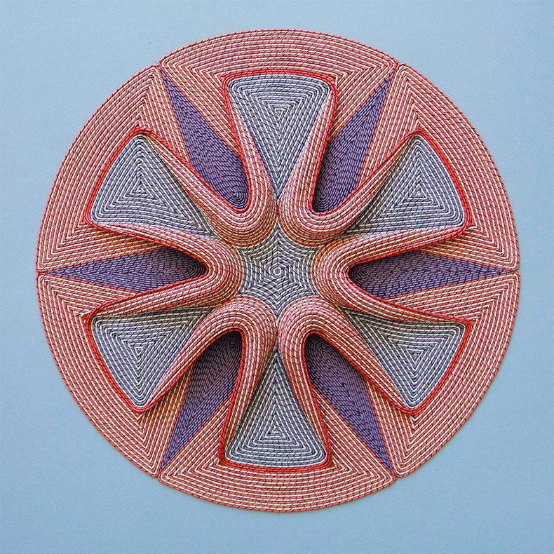 Intrincados diseños laminados de papel tapiz de Gunjan Aylawadi