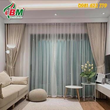 Rèm vải 2 lớp sang trọng ấm áp cho phòng khách đẹp.công trình tại quận 9,sài gòn...0981.622.779