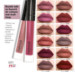 Catalog FARMASI Iulie - August 2019 reduceri lipstick