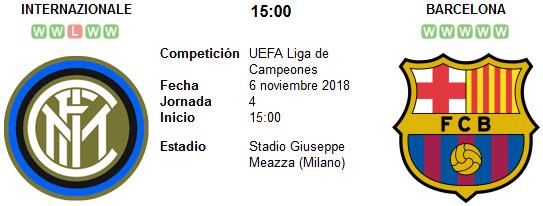 Inter de Milan vs Barcelona en VIVO
