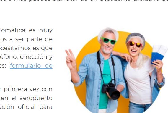 texto de Interjet acerca de Descuento para Adultos Mayores