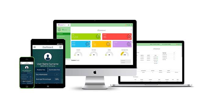 Fully customizable online examination portal for coaching organization