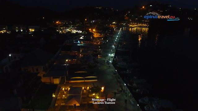 Βραδινή πτήση με drone πάνω από τα Σύβοτα Θεσπρωτίας (ΒΙΝΤΕΟ)