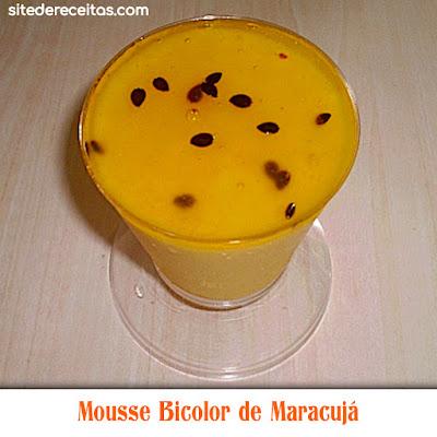 Mousse Bicolor de Maracujá
