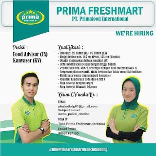 Lowongan Kerja PT Prismafood International