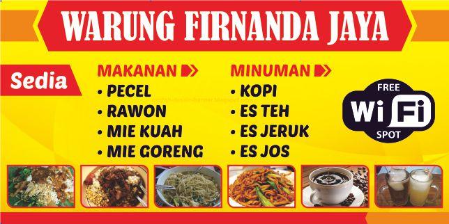 Spanduk Warung Makan Firnanda Jaya