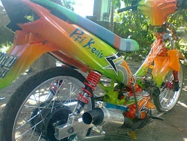 Modifikasi Motor Vega R Full Air Brush
