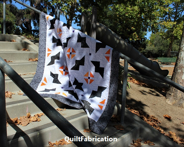 Just Batty quilt in the shadows by QuiltFabrication