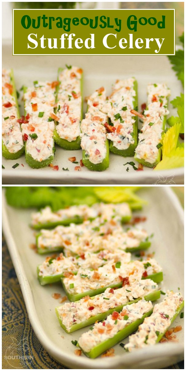 Outrageously Good Stuffed Celery #appetizerrecipes