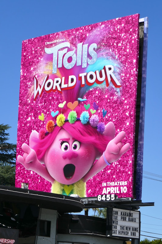 Poppy Trolls World Tour movie billboard