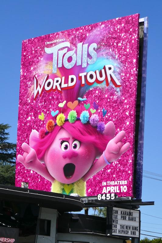 Poppy Trolls World Tour movie billboard