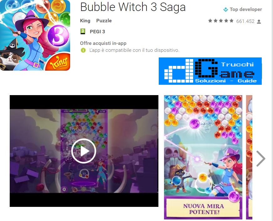 Trucchi Bubble Witch 3 Saga Mod Apk Android v2.3.3
