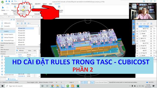 Hướng dẫn cài đặt Measurement Rules trên Cubicost -Tasc (quy tắc khấu trừ) - P2  Thầy Mai Bá Nhẫn