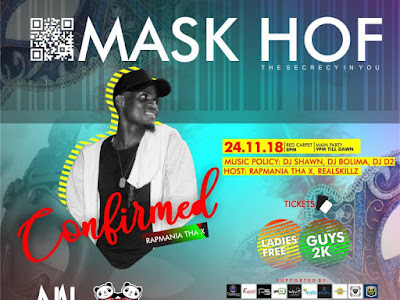 Event: Rapmania Tha X To Host The First Edition Of MaskHof Party 0.1