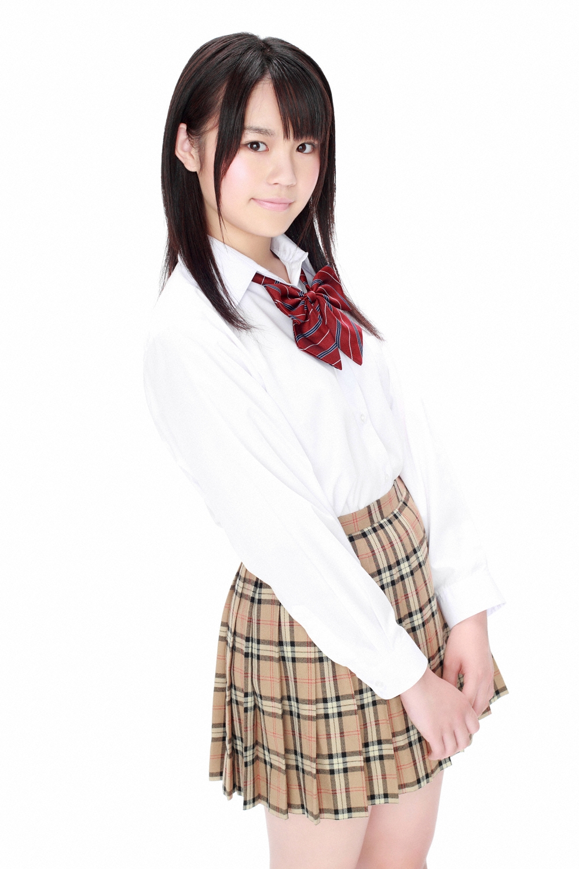 Maki Fukumi Japanese Cute Idol Sexy Schoolgirl Uniform