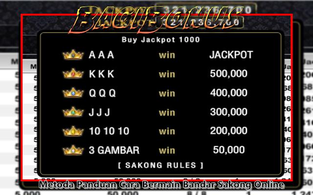 bonus jackpot sakong rules
