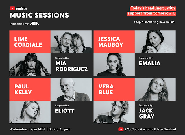 Image showing headliners for YouTube Music Sessions
