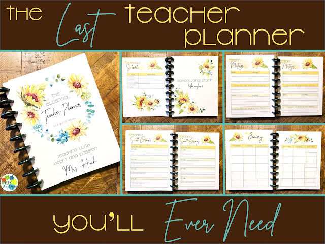 The Last Teacher Planner You'll Ever Need | Apples to Applique