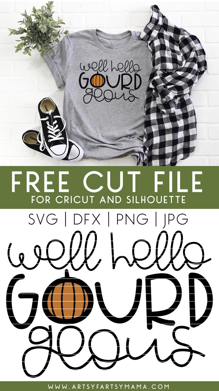 Hello Gourd-geous Free Cut File