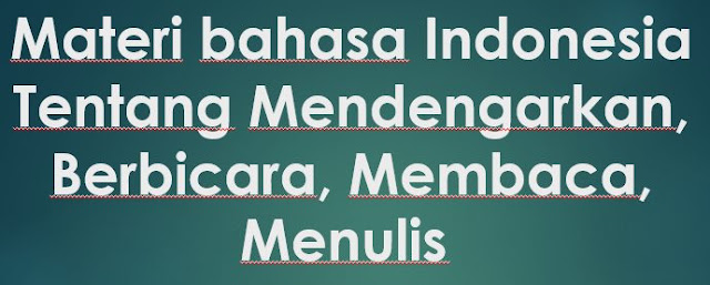 Materi Bahasa Indonesia Kata Ungkapan A Sampai Z Lengkap
