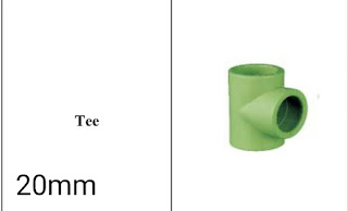 Jual fitting ppr lesso Tee 20mm