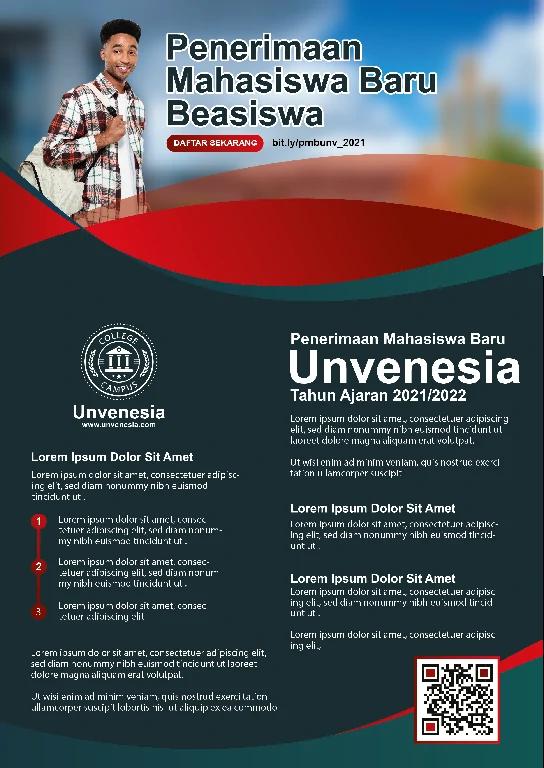 Download Brosur Pendaftaran Mahasiswa Baru Photoshop Gratis.