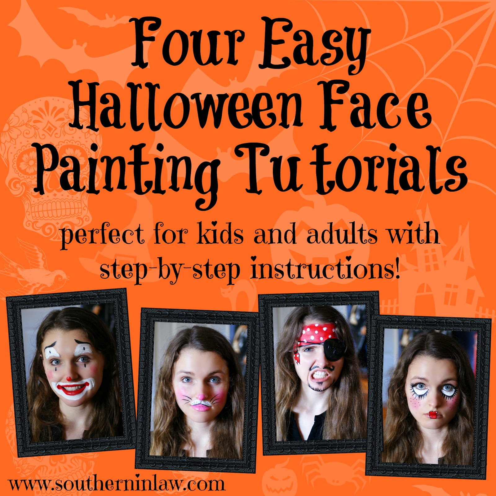 Southern In Law: DIY: Four Easy Halloween Face Painting ...