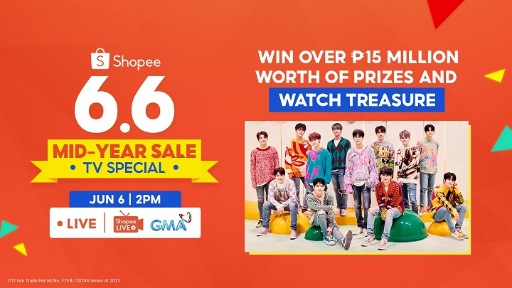 Win over ₱15M worth of Prizes in Shopee 6.6-7.7 Mid-Year Sale TV Special