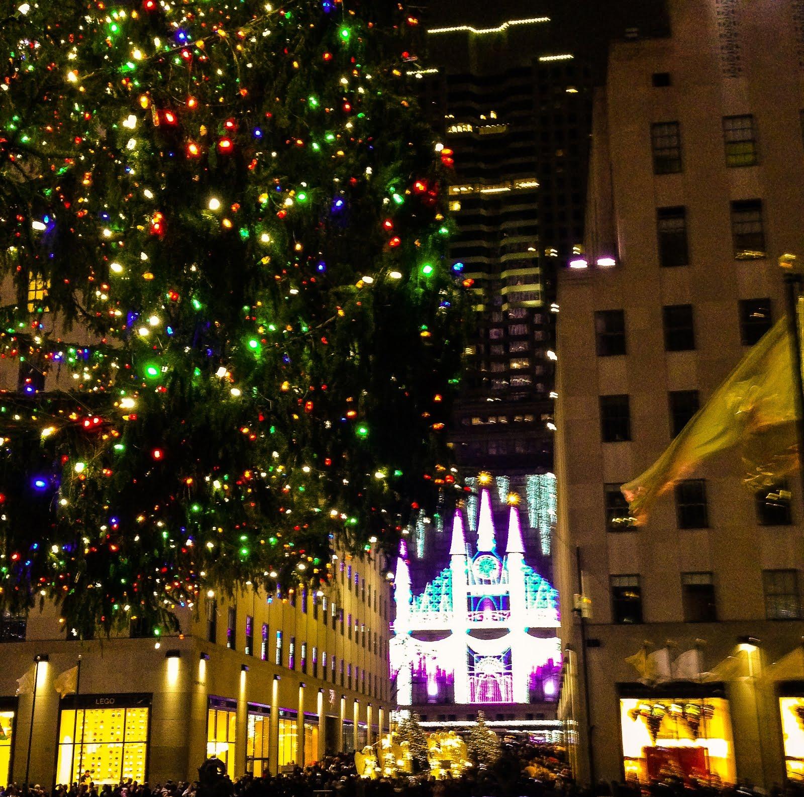 Saks Fifth Avenue Lights Show In Rockefeller Center, New York City