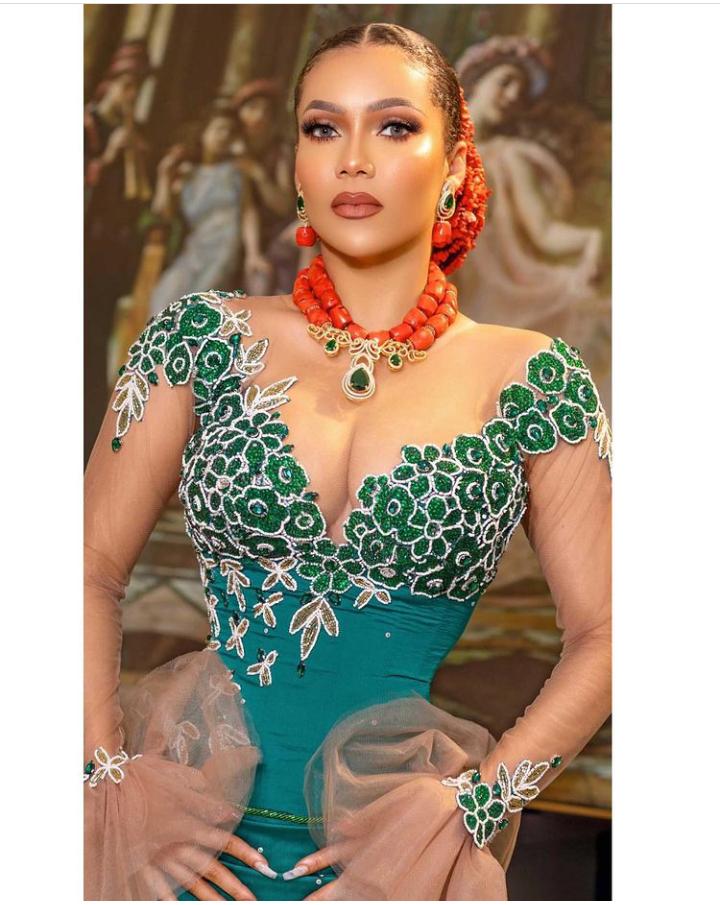 "BBNaija: Maria Chike stuns in Igbo attire, says ""Imo state kwenu"""