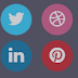 Flat Social Button Design With Cool Hover Effects