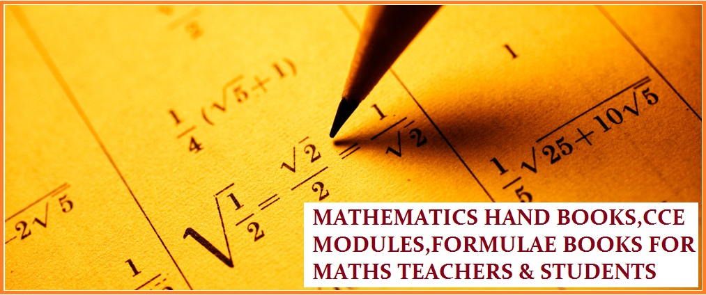 HAND BOOKS FOR ALL MATHEMATICS TEACHERS