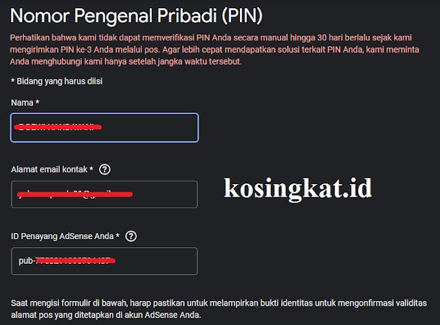cara verifikasi pin adsense menggunakan ktp
