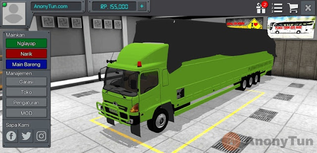MOD BUSSID Truck Hino Lohan Logistic