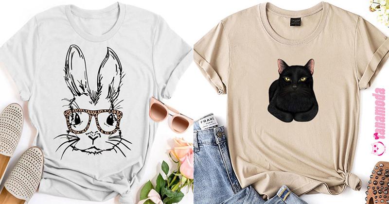 T-Shirts Fofas com Estampas de Animais
