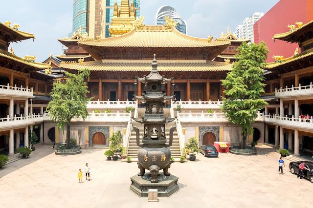čína, china, šanghaj, shanghai, nanjing road, Jingan, Jing an, Jing´an, temple