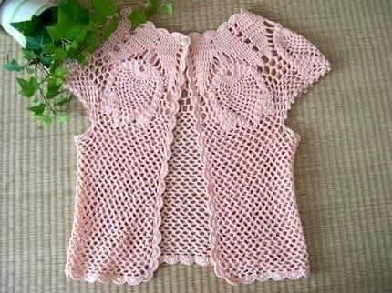 Patrón #1551: Chaleco a Crochet