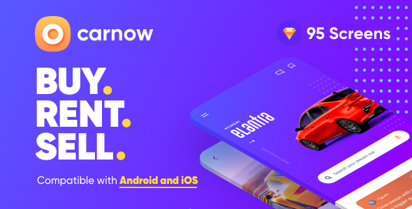 Car buy, rent and sell Mobile app UI kit