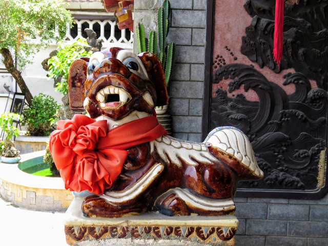 Small dragon sculpture in Hoi An Vietnam