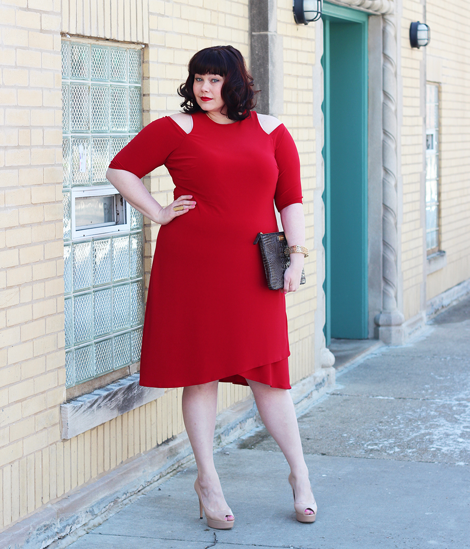 Plus Size Blogger Amber from Style Plus Curves in Kiyonna Red Dress