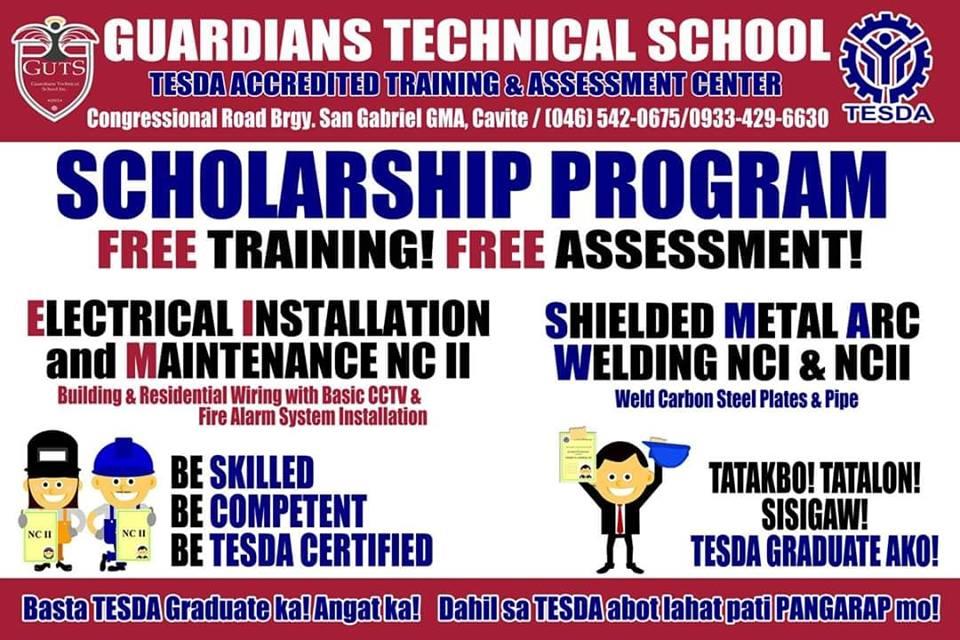 EIM NC II & SMAW NC I & II  | Scholarship Program