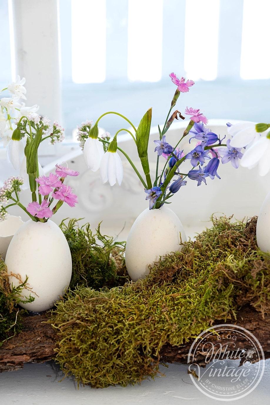 Naturdeko für Ostern basteln.