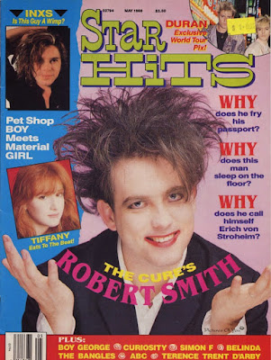 Robert Smith in Star Hits magazine, 1988