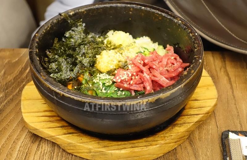 Daega korean bbq restaurant myeongdong seoul korea raw beef bibimbap yukhoe