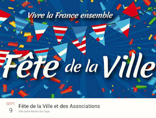 affiche de la Fête de la ville et des associations de St Michel sur Orge
