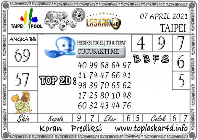 Prediksi Togel TAIPEI LASKAR4D 07 APRIL 2021