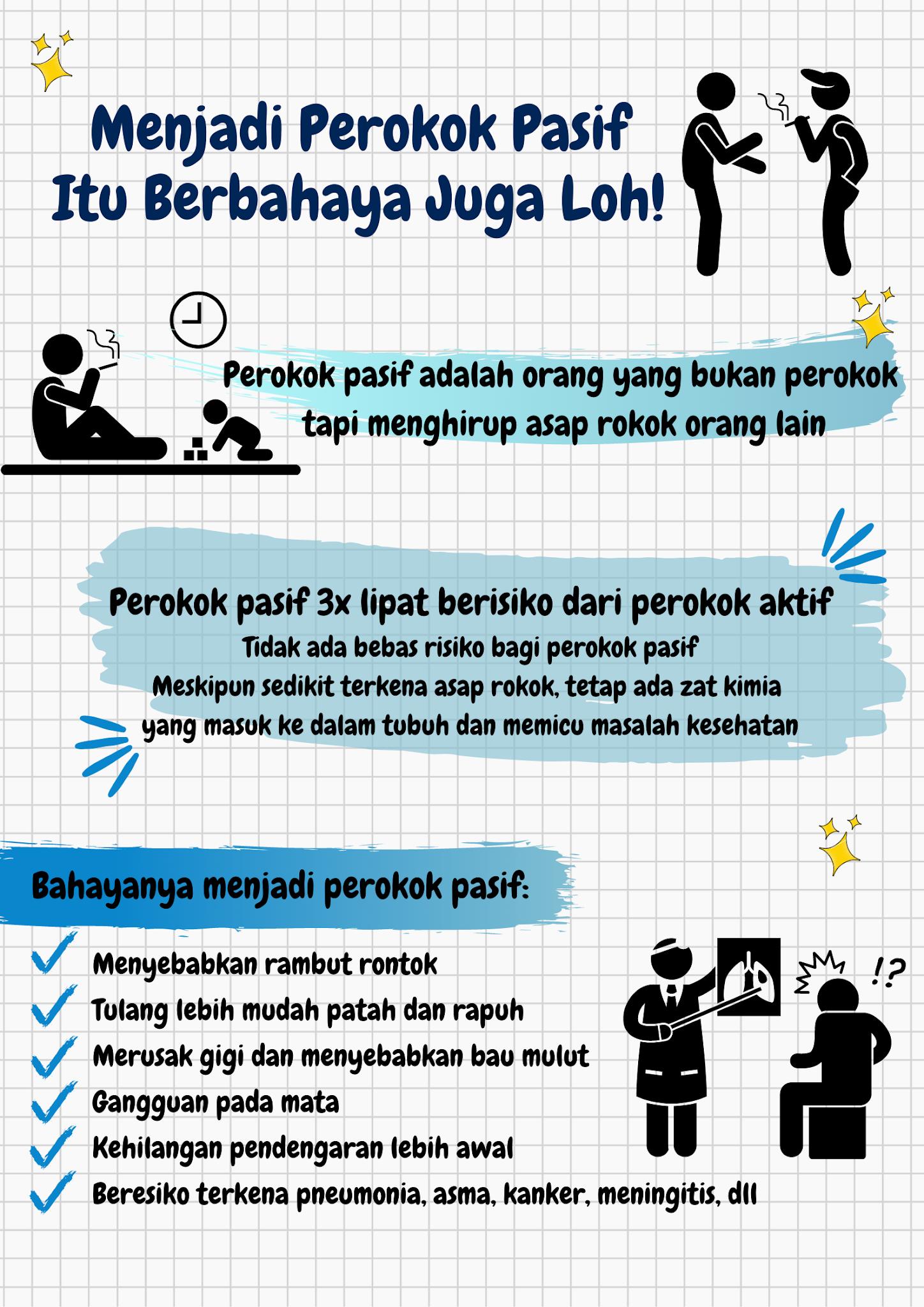infografis perokok pasif
