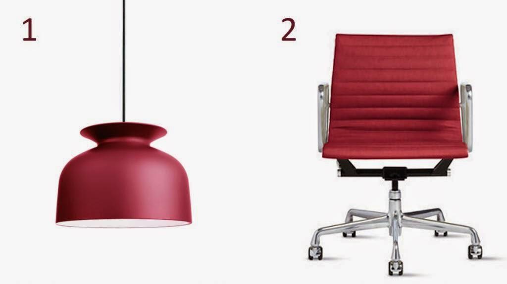 lámpara y silla