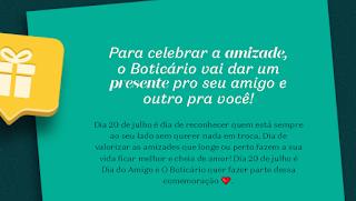 Promoção dia do amigo boticário